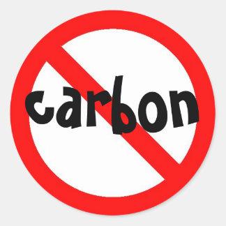 kein Kohlenstoff Aufkleber