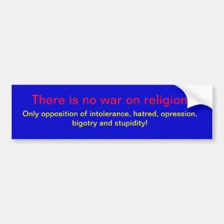 Kein Krieg auf Religion Autoaufkleber