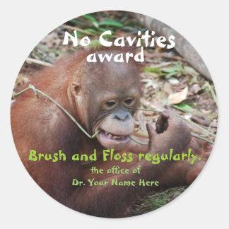 Kein Loch-Zahnarzt-Preis für Kinder Runder Aufkleber