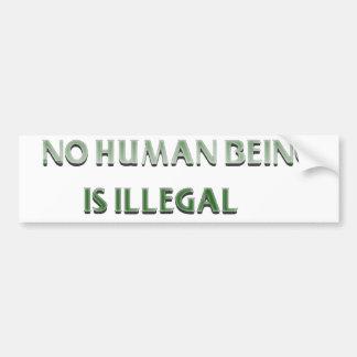 Kein Mensch ist illegal Autoaufkleber