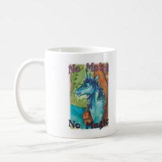 Kein Metall keine Magie - blaue Tasse