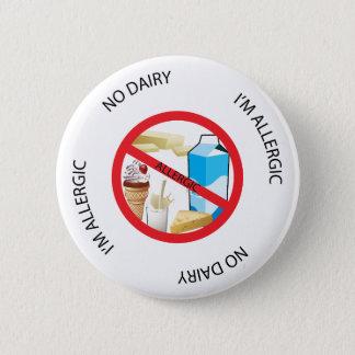 Kein Molkereiallergie-Alarm-Knopf Runder Button 5,1 Cm