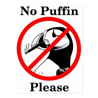 Kein Papageientaucher bitte Postkarte