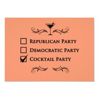 Kein Party mögen ein Cocktail-Party! 12,7 X 17,8 Cm Einladungskarte