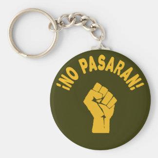 Kein Pasaran - sie überschreiten nicht Schlüsselanhänger