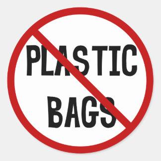 Kein Plastiktasche-Aufkleber Runder Aufkleber