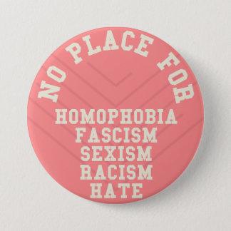 Kein Platz für Homophobie-Zitat Runder Button 7,6 Cm