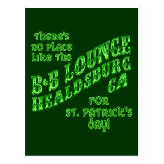 Kein Platz mögen Healdsburg für St Patrick Tag Postkarte