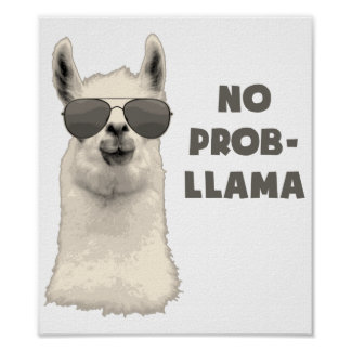 Kein Problem-Lama Poster