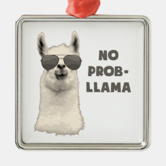 Kein Problem-Lama Silbernes Ornament