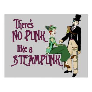 Kein Punk mögen ein Steampunk Postkarte