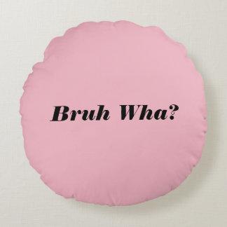 Kein rundes rosa Kissen