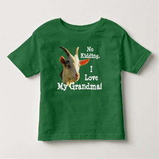 """""""Kein Scherzen. I Liebe meine Großmutter!"""" mit Kleinkind T-shirt"""