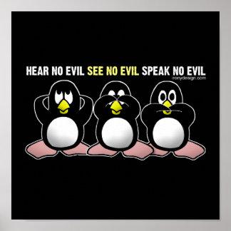 Kein schlechter Pinguin-Entwurf Poster