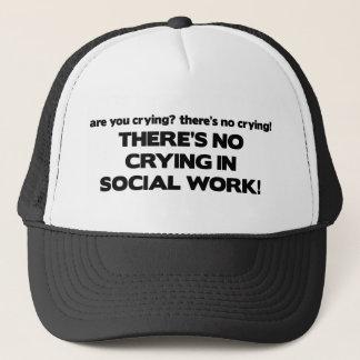 Kein Schreien in der Sozialarbeit Truckerkappe