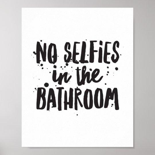 Kein Selfies Im Badezimmer Poster | Zazzle, Badezimmer