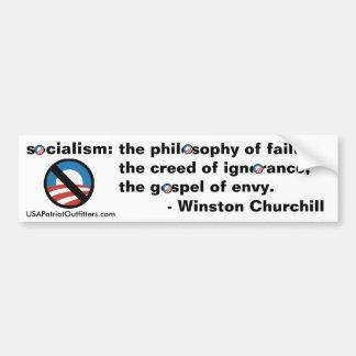 Kein Sozialismus - Winston- Churchilldefinition Autoaufkleber