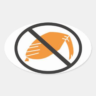Kein Trumpf-Aufkleber Ovaler Aufkleber