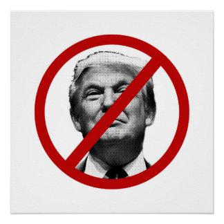 Kein Trumpfinternational-Zeichen Poster