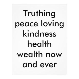 Kein Truthing friedlicher Güte-Gesundheitsreichtum Flyers