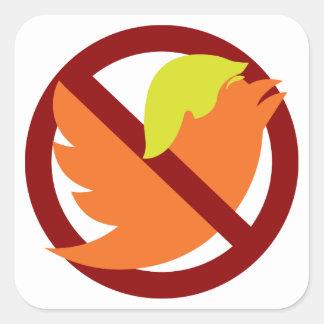 Kein tweetet quadratischer aufkleber