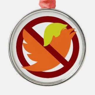 Kein tweetet silbernes ornament
