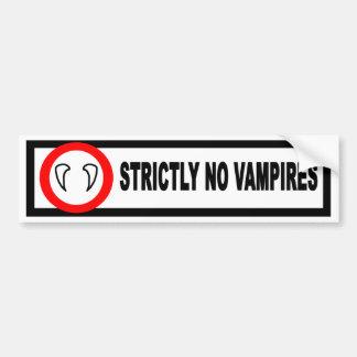 Kein Vampires-Autoaufkleber Autoaufkleber