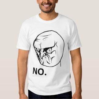 Kein verärgertes Raserei-Gesicht Rageface Meme Com Hemd