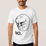 Kein verärgertes Raserei-Gesicht Rageface Meme Hemd