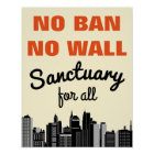 Kein Verbot kein einwanderndes Verbot der Wand-| Poster