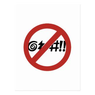 Kein Verfluchen erlaubt, Zeichen, Virginia, US Postkarte
