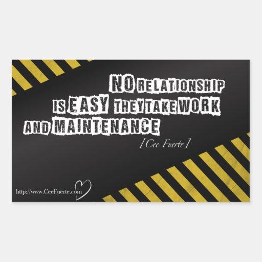 Kein Verhältnis ist einfach Rechteckige Sticker