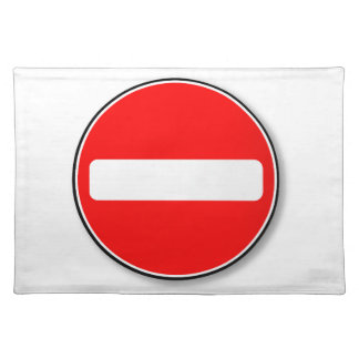 Kein Verkehrs-Eintritt Stofftischset