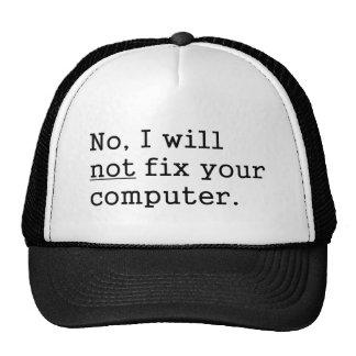 Kein werde ich keine Verlegenheit Ihr Computergeek Trucker Caps
