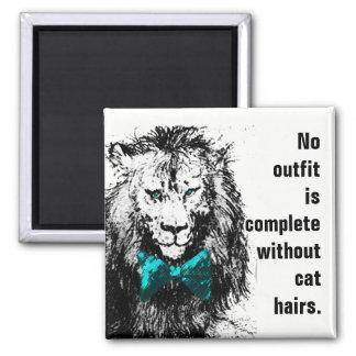 Keine Ausstattung ist ohne Katzen-Haare komplett Quadratischer Magnet