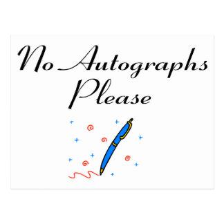 Keine Autogramme gefallen Postkarte