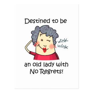 Keine Bedauern! Postkarte