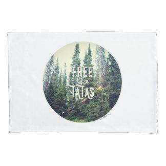 Keine BH erlaubt im Wald Kissenbezug