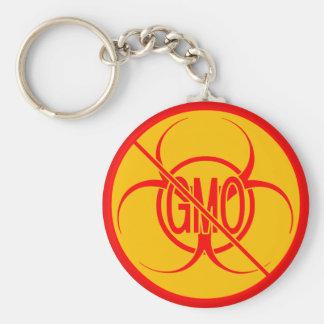Keine Biogefährdung GVO Keychain, die keine GVO-Sc Standard Runder Schlüsselanhänger
