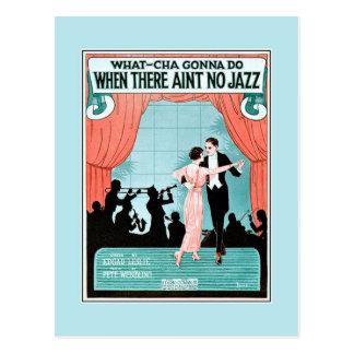 Keine Blattmusikabdeckung des Jazzzwanziger jahre Postkarten