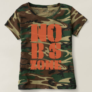 Keine BS teilen Tarnungs-T - Shirt der Frau in