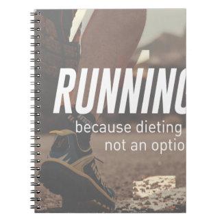Keine Diät-gerade laufenden Läufer Notizblock