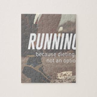Keine Diät-gerade laufenden Läufer Puzzle