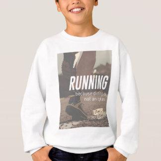 Keine Diät-gerade laufenden Läufer Sweatshirt