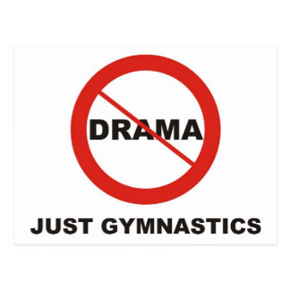 Keine Drama-gerade Gymnastik Postkarte