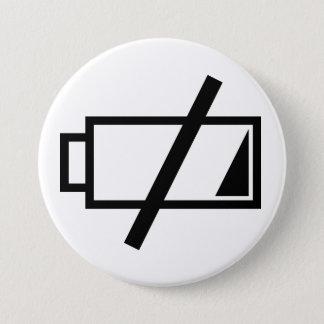 Keine Energie Runder Button 7,6 Cm