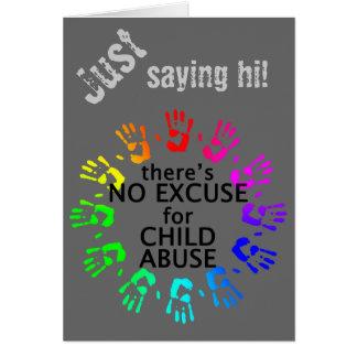Keine Entschuldigung für Kindesmissbrauch Grußkarte