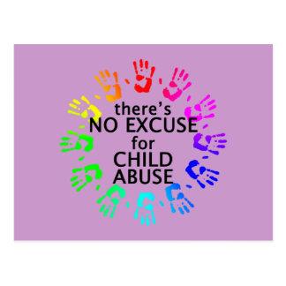 Keine Entschuldigung für Kindesmissbrauch Postkarte