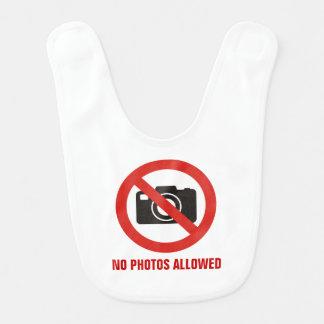 Keine Fotos erlaubt Babylätzchen