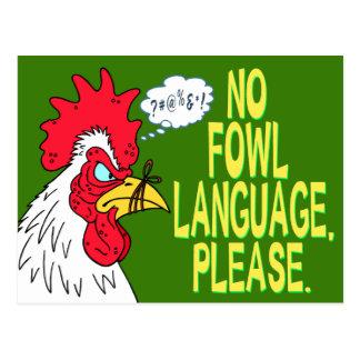 Keine Geflügel-Sprache Postkarte